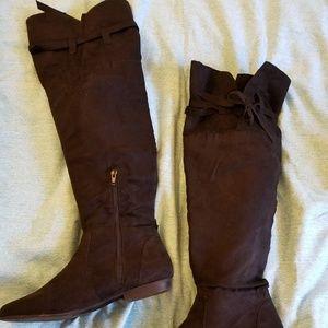 EUC JustFab Over Knee Flat Boots + Cedar Inserts!!